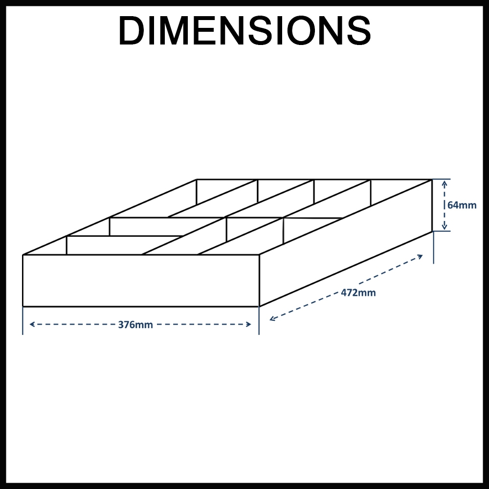 Stainless steel cutlery drawer dimensions