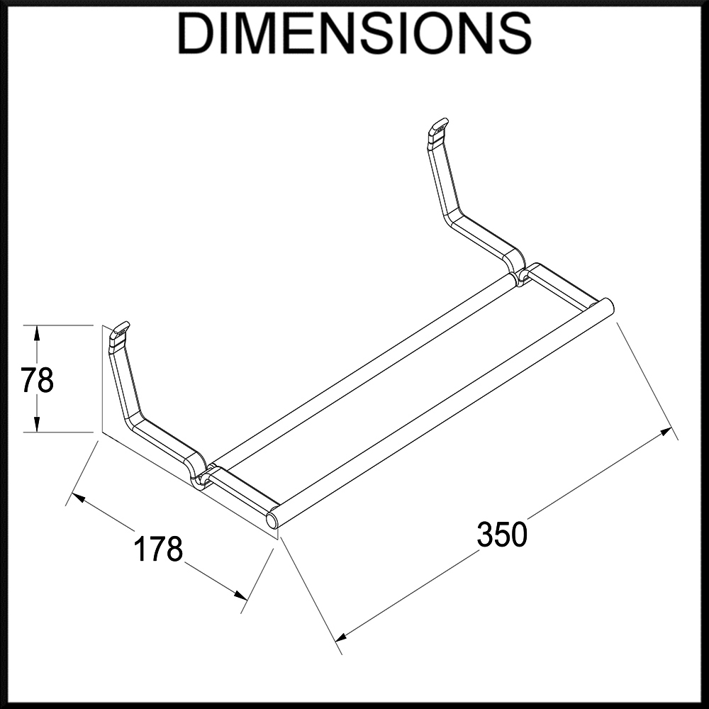 papertowel holder dimensions