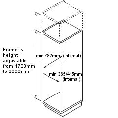 pull out pantry with adjustable height