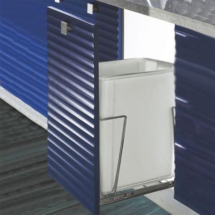 kitchen bin, waste bin, concealed bin, concealed waste bin, pull-out bin, single pull-out bin