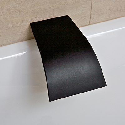 tap in matte black and black bathroom products australia
