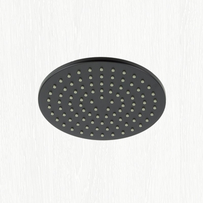 Matt Black Square Slim Fixed Shower Head And Wall Mounted Arm Modern