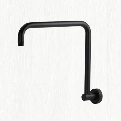 matte black, wall mount, gooseneck shower arm, hansgrohe ceiling shower arm, rain shower head with arm
