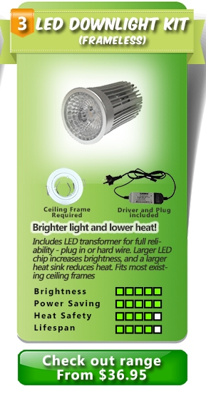 LED light for existing halogen ceiling frame