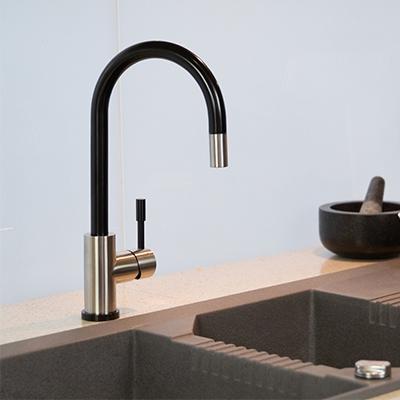 black tapware, black kitchen mixer tap, black sink mixer, black kitchen tapware, black mixer tap for kitchen sink