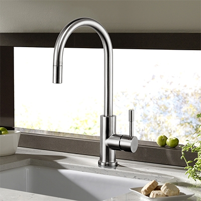 faucet, kitchen taps online, matte black taps, kitchen sink taps, brushed stainless steel tapware