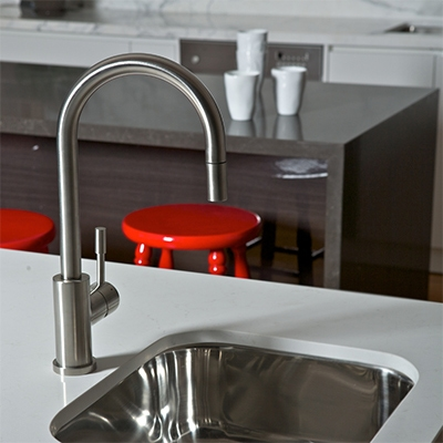 taps, stainless steel, brushed stainless steel tapware, stainless steel kitchen mixer tap, outdoor mixer tap