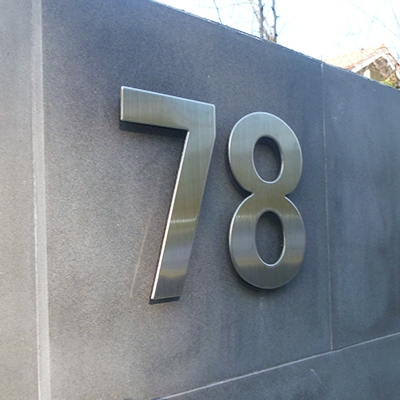 house numbers, 304 stainless steel number sign, home number options
