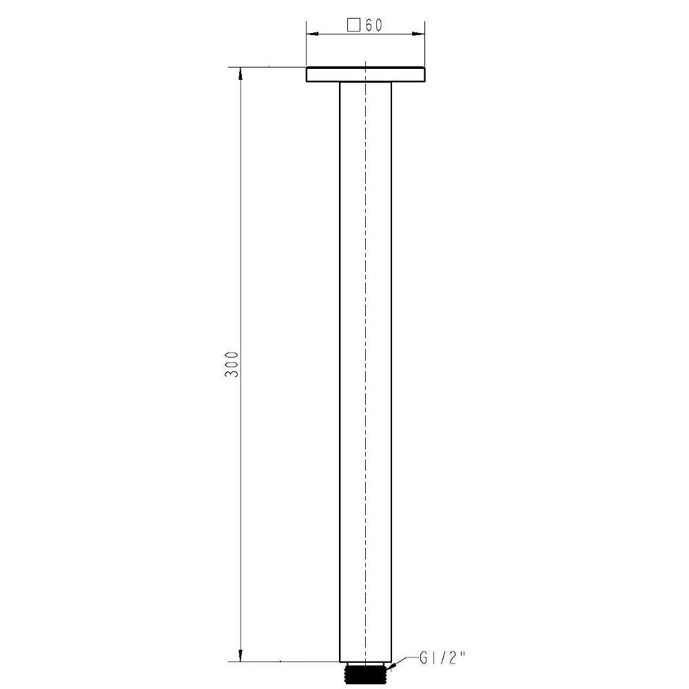 square-shower-arm-ceiling-mount-dimensions